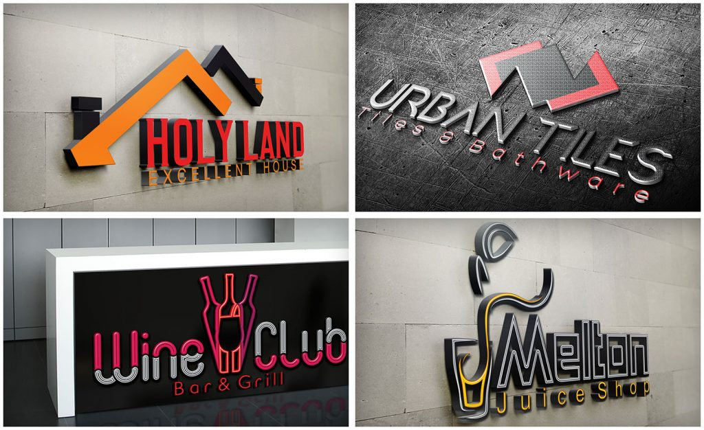 Create eye catching 2D and 3D logo in fiverr