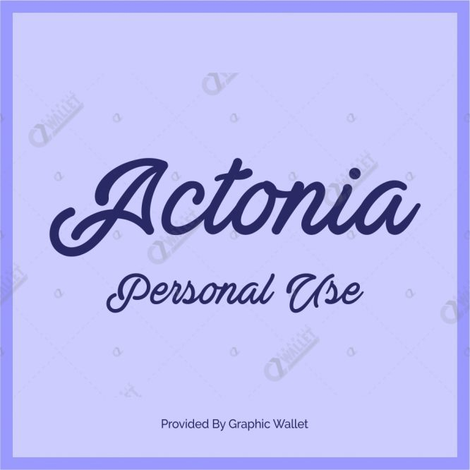 Actonia Personal Use Font
