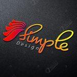3D Logo MockUp – Simple Design