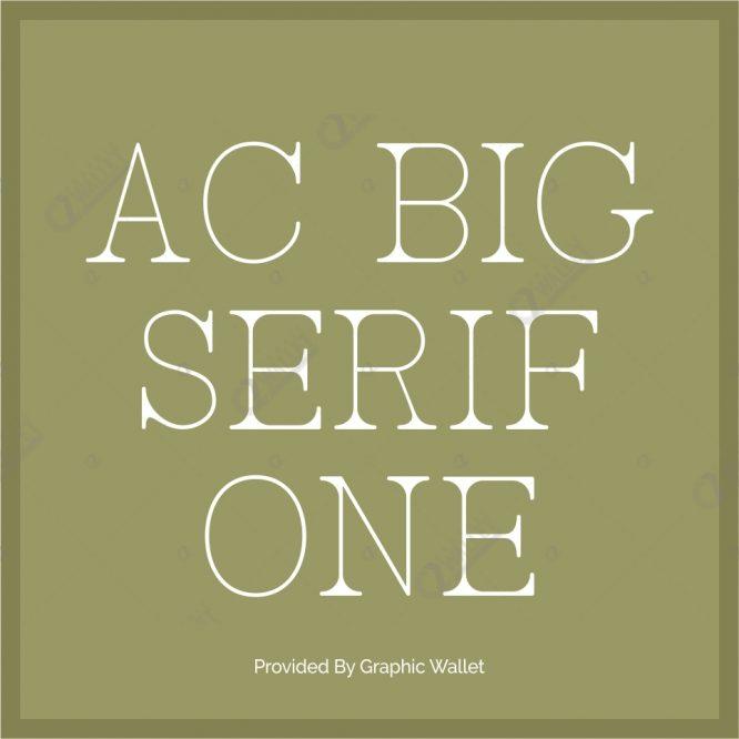 AC BigSerif One Font