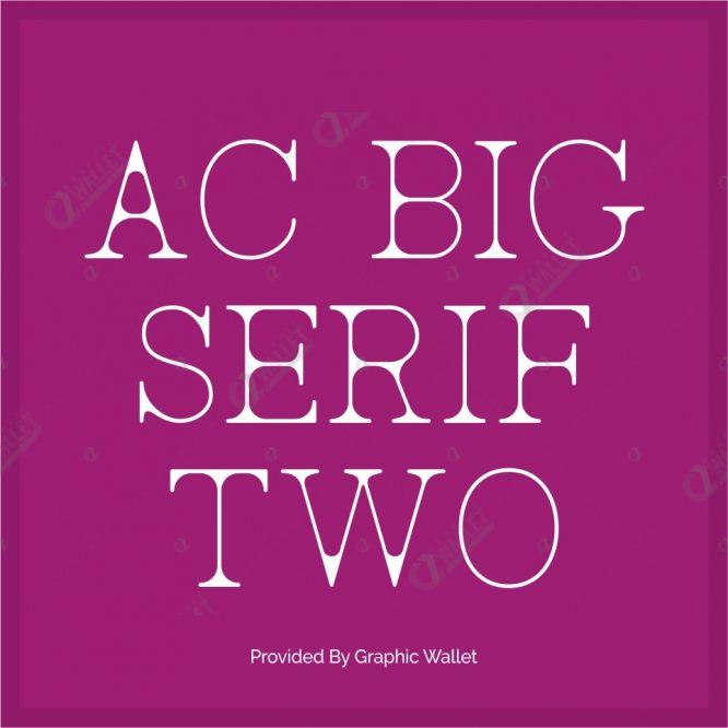 AC BigSerif Two Font