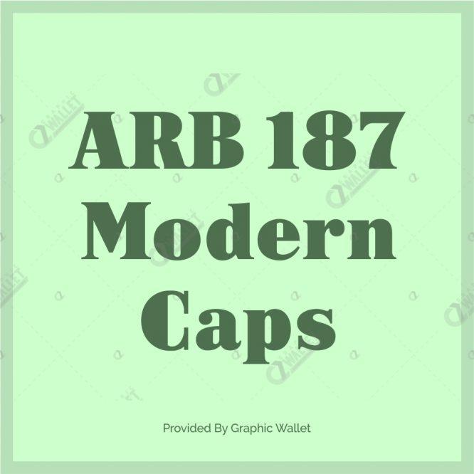 ARB 187 Modern Caps Font