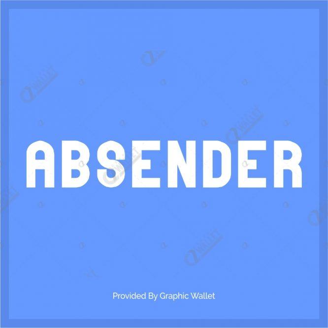 Absender Font