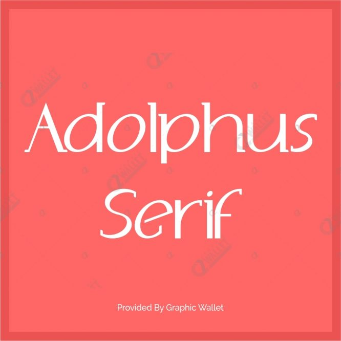 Adolphus Serif Font