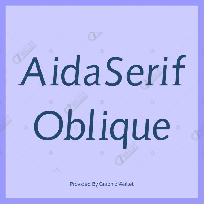 AidaSerif Oblique Font