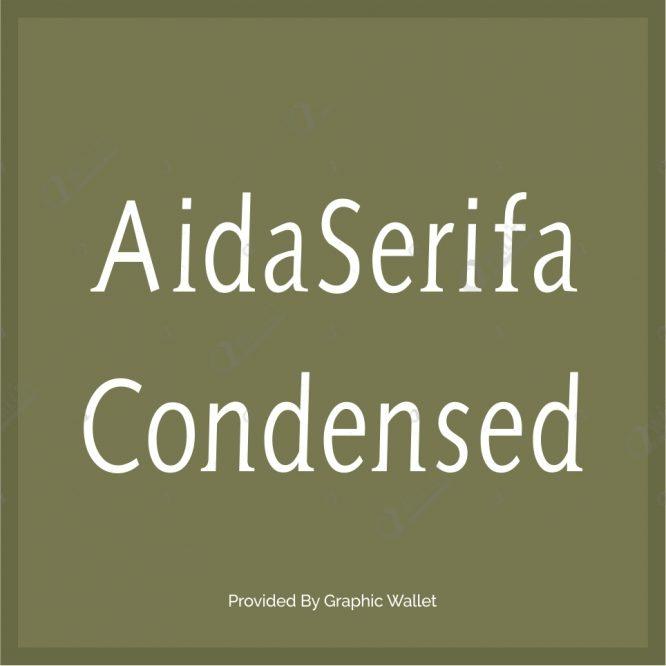 AidaSerifa Condensed Font