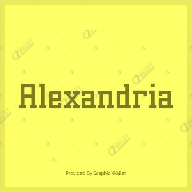 Alexandria Font