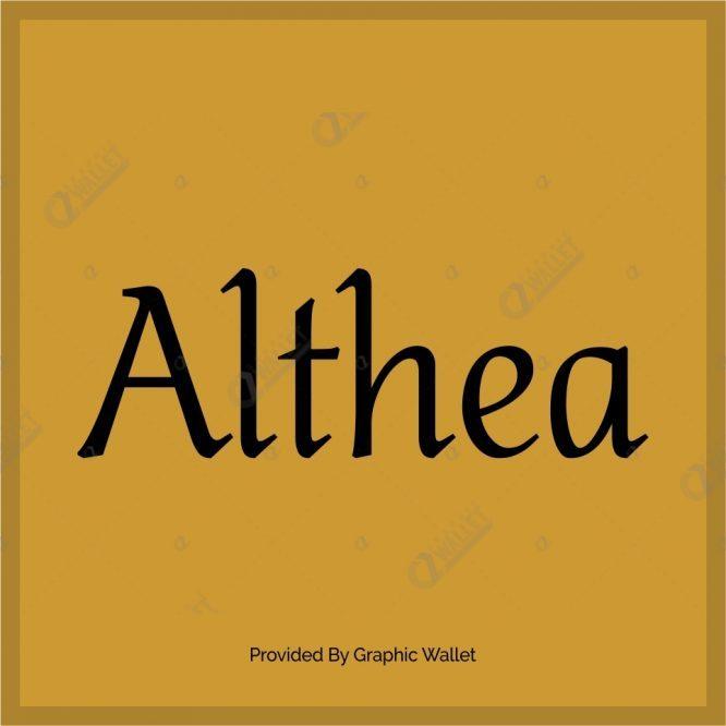 Althea Font