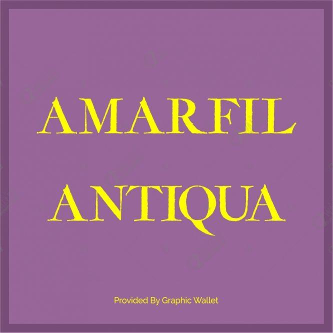 Amarfil Antiqua Font