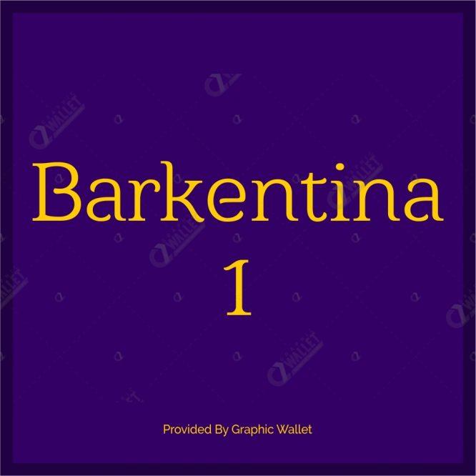Barkentina 1 Font