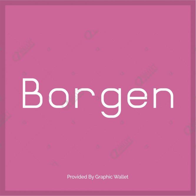 Borgen Font