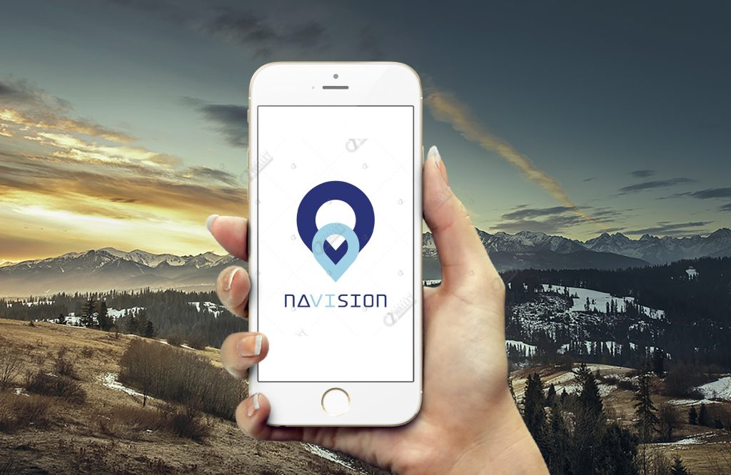 iPhone 6 Hand Template Logo Mockup – NAVISION