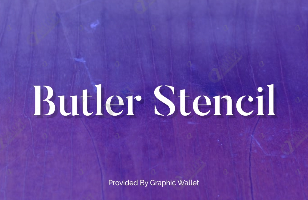 Butler Stencil With Web Font