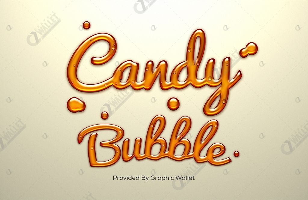 Candy Text Effect – Candy Bubble