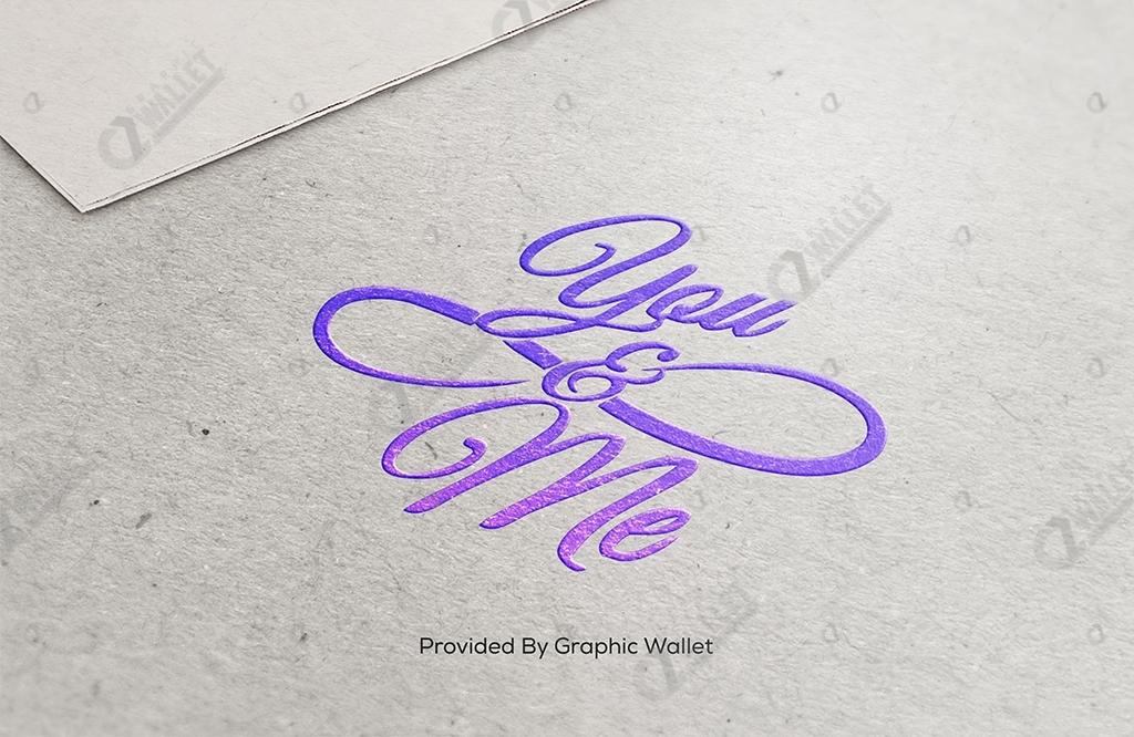 Cardboard Logo Mockup – You & Me