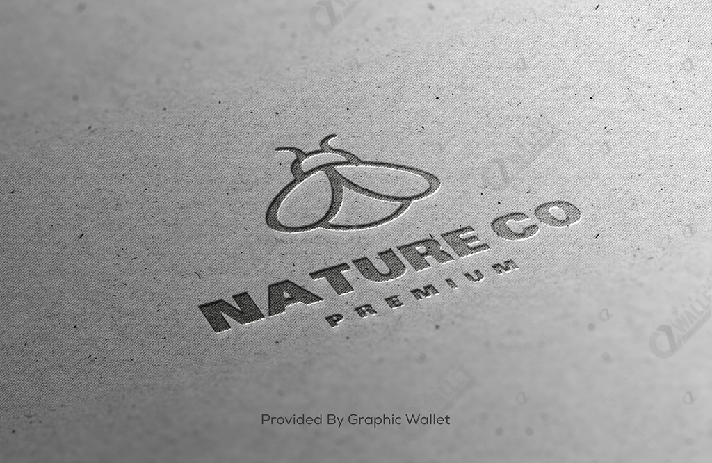Close Up Logo Mockup – Nature Co