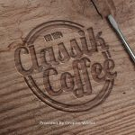 Engraved Wood Logo Mockup – Classik Coffee
