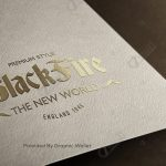 Gold & Silver Foil Letterpress Logo Mockup – Black Fire