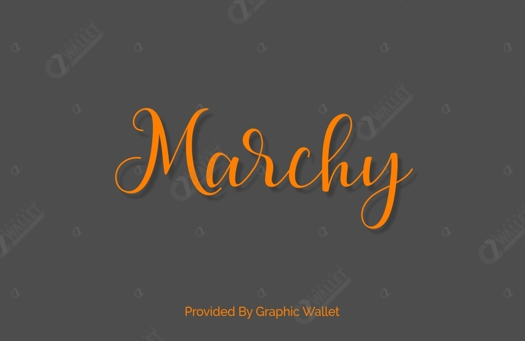 Marchy Font