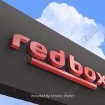 Outdoor 3D Logo Mockup – Red Box