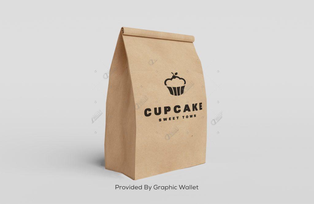Paper Bag Mockup – Cupcake