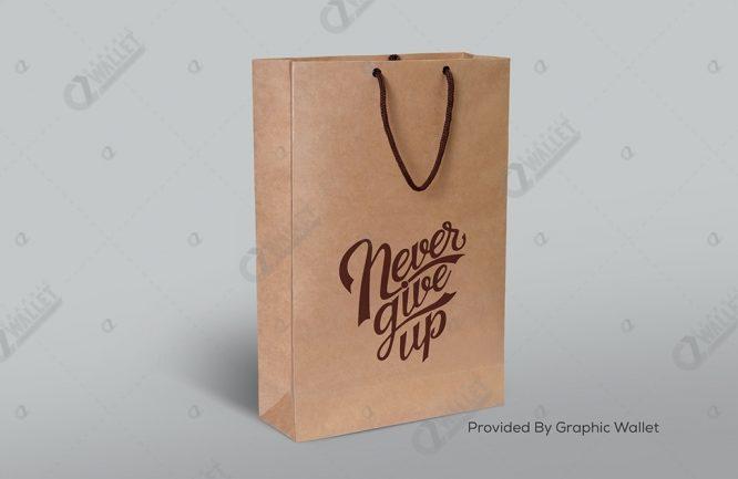 Shopping Bag Mockup – Never Give Up