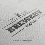 Watercolour Paper Black & Gold Logo Mockup – Brewery