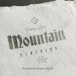Watercolour Paper Logo Mockup – Mountain