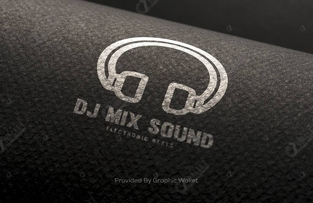 Wool Fabric Logo Mockup – Dj Mix Sound
