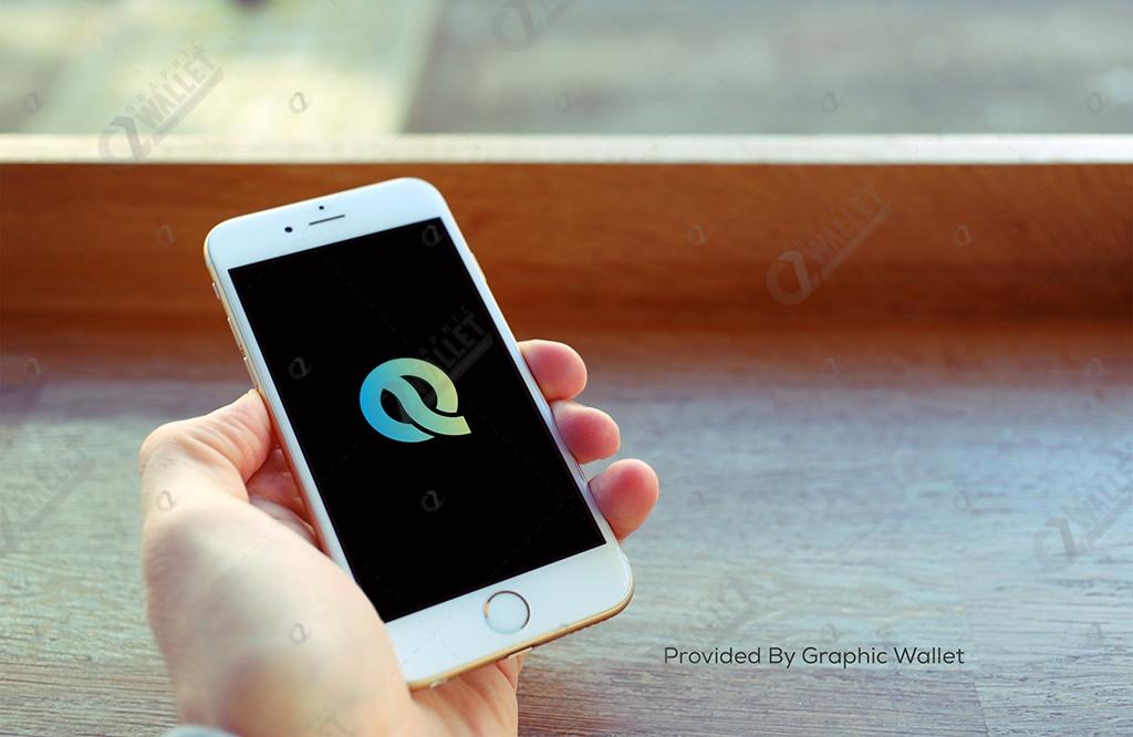 iPhone 6 Café Hand App Icon Mockup – Quantum