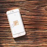 iPhone 6 Wood Top App Icon Mockup – Primitive