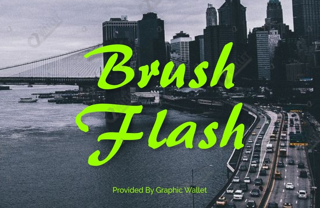 Brush Flash Font
