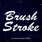Brush Stroke Font