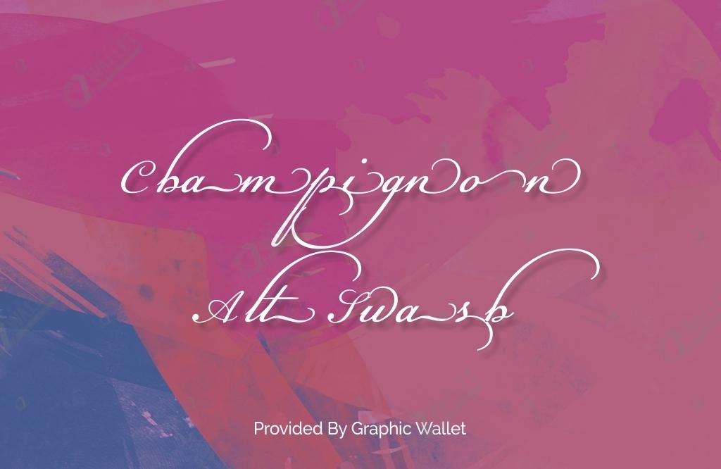 Champignon Alt Swash Font