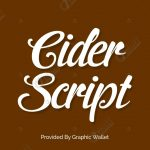 Cider Script Font
