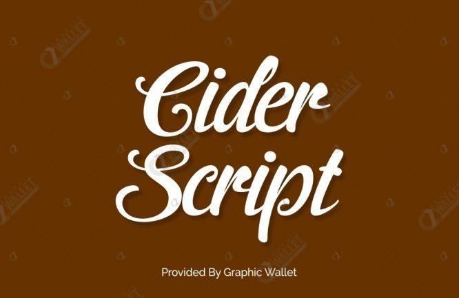 Cider Script Font | Graphic Wallet