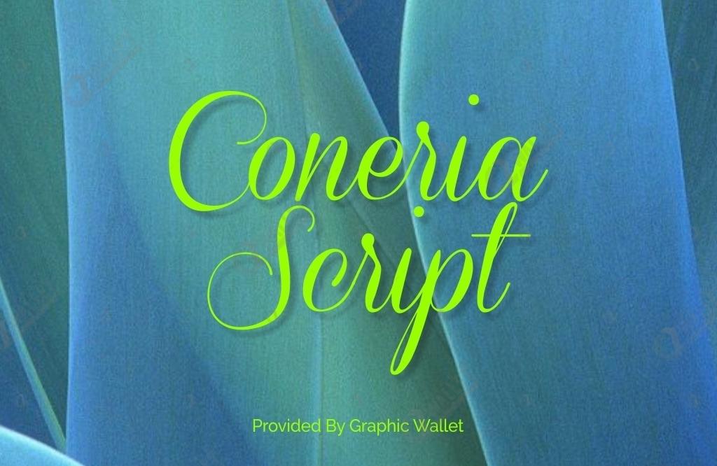 Coneria Script Font