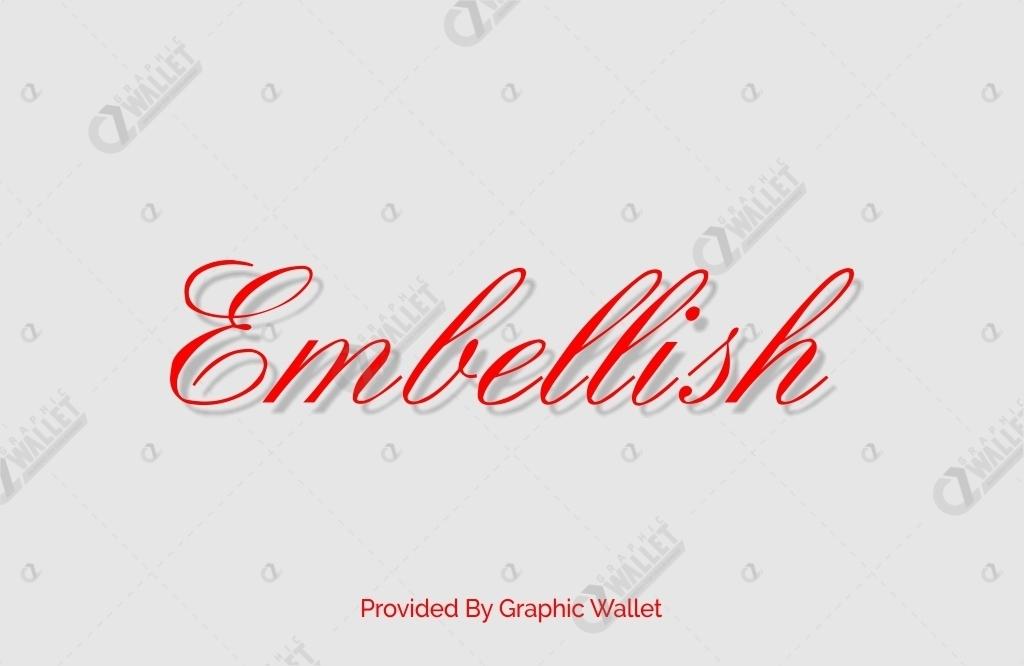 Embellish Font
