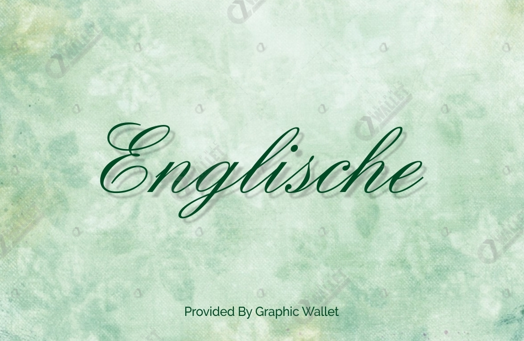 Englische Font Family