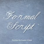 Formal Script Font