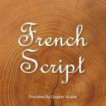 French Script Font