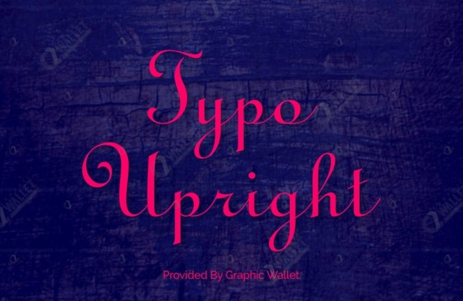Typo Upright Font