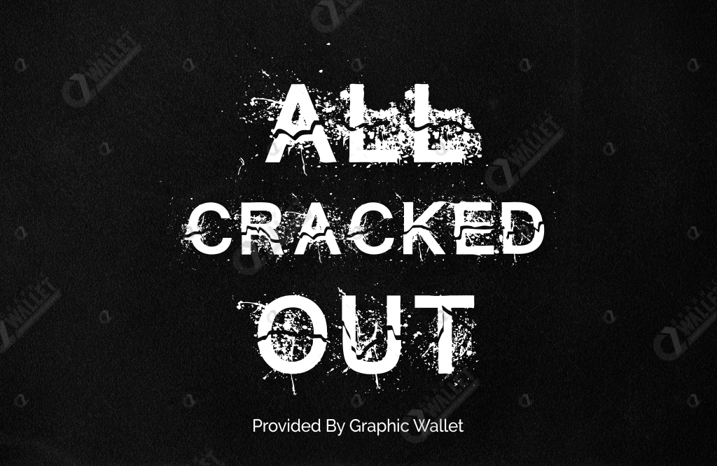 All Cracked Out Font