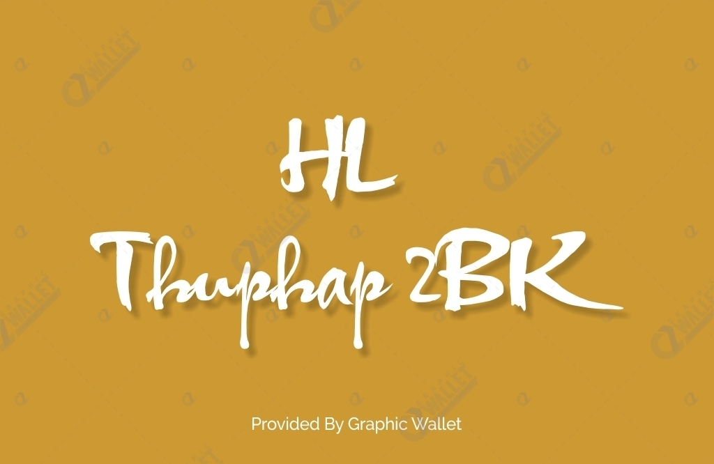 HL Thuphap 2BK Font