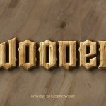 3D Wood Text Layer Style – Wood