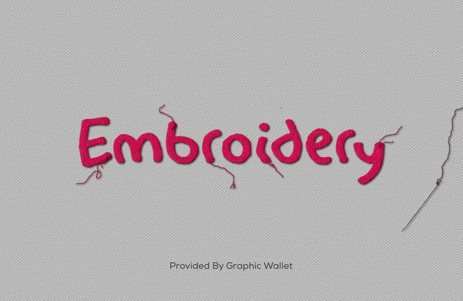 Embroidery Text Effect | Graphic Wallet