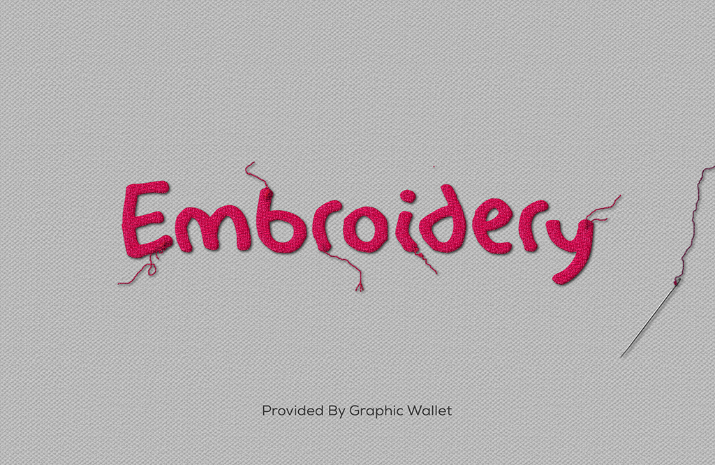 Embroidery Text Effect