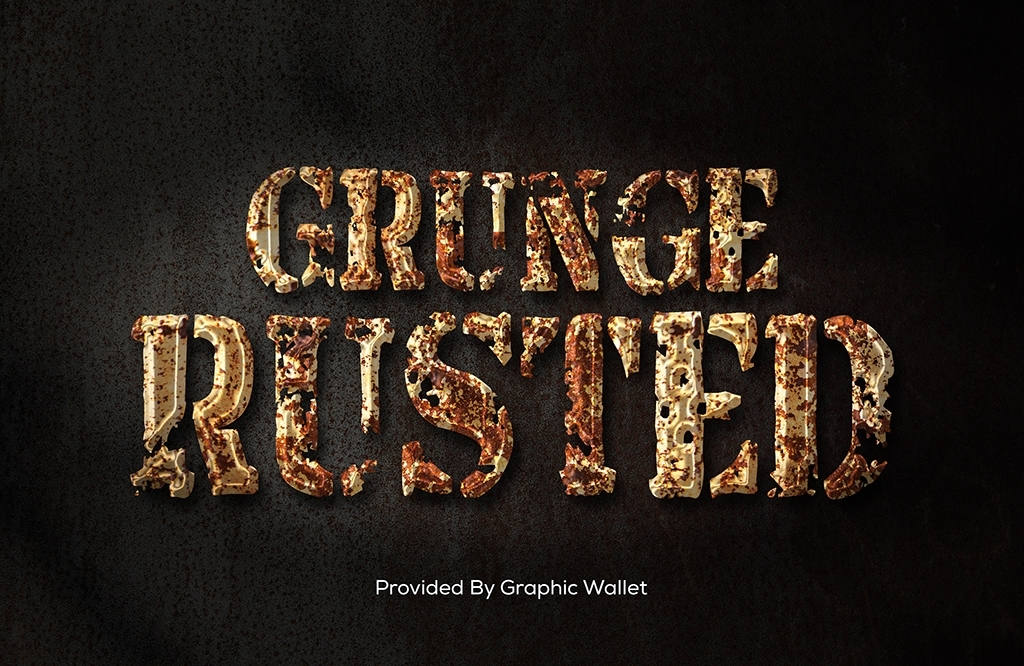 Grunge Rusted Metal Text Effect