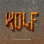 Grunge Rusted Text Effect – Wolf