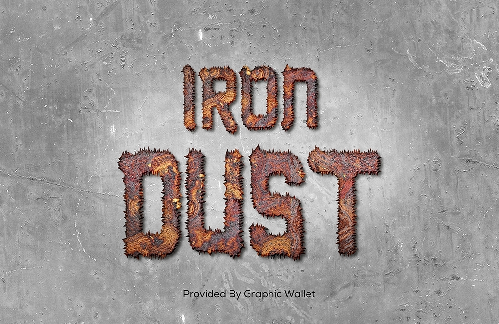Magnetic Iron Dust Text Effect